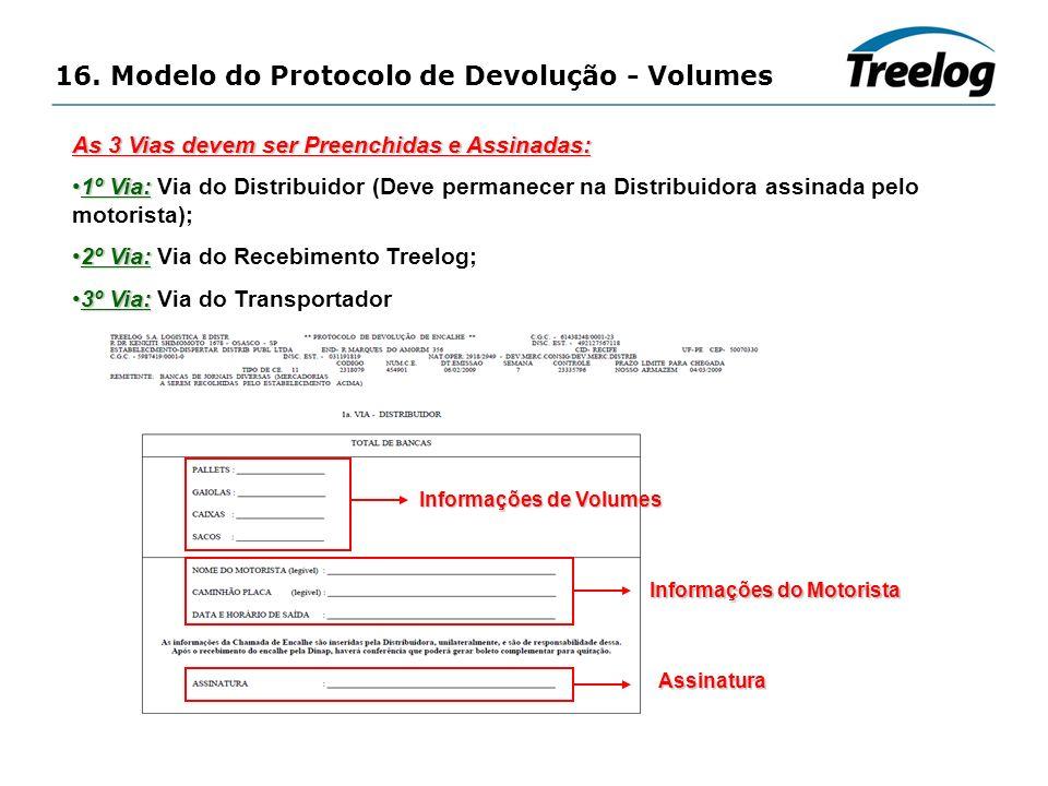 16. Modelo do Protocolo de Devolução - Volumes