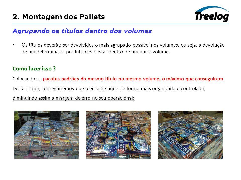 2. Montagem dos Pallets Agrupando os títulos dentro dos volumes