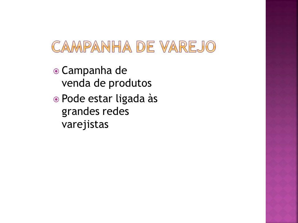 CAMPANHA DE VAREJO Campanha de venda de produtos