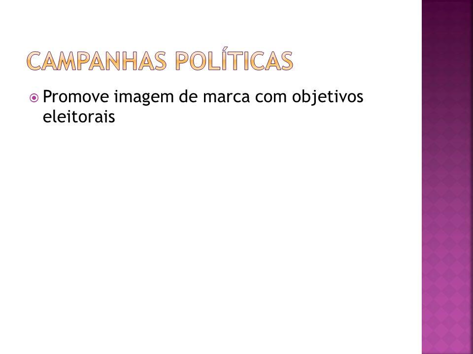 CAMPANHAS POLÍTICAS Promove imagem de marca com objetivos eleitorais