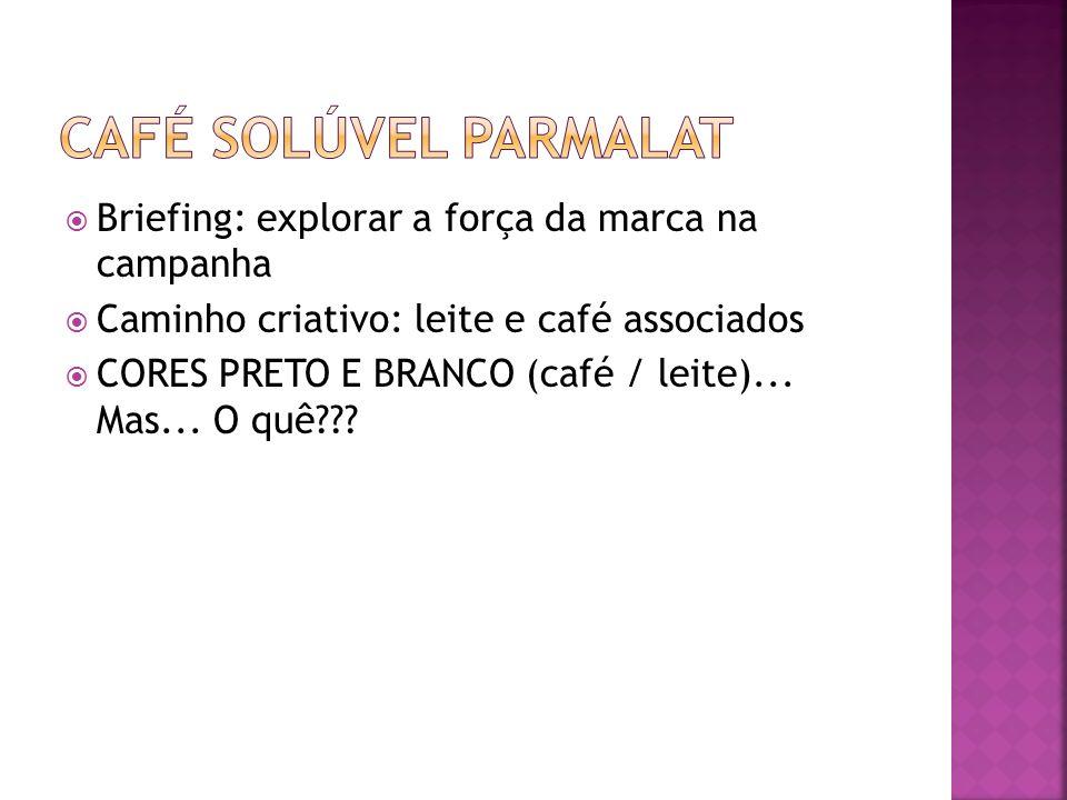 Café Solúvel Parmalat Briefing: explorar a força da marca na campanha