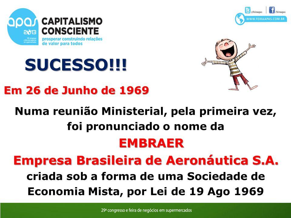 SUCESSO!!! Empresa Brasileira de Aeronáutica S.A.