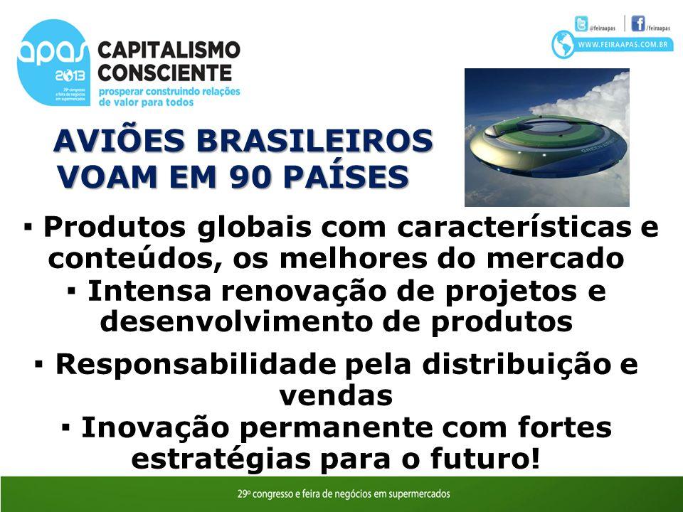 AVIÕES BRASILEIROS VOAM EM 90 PAÍSES