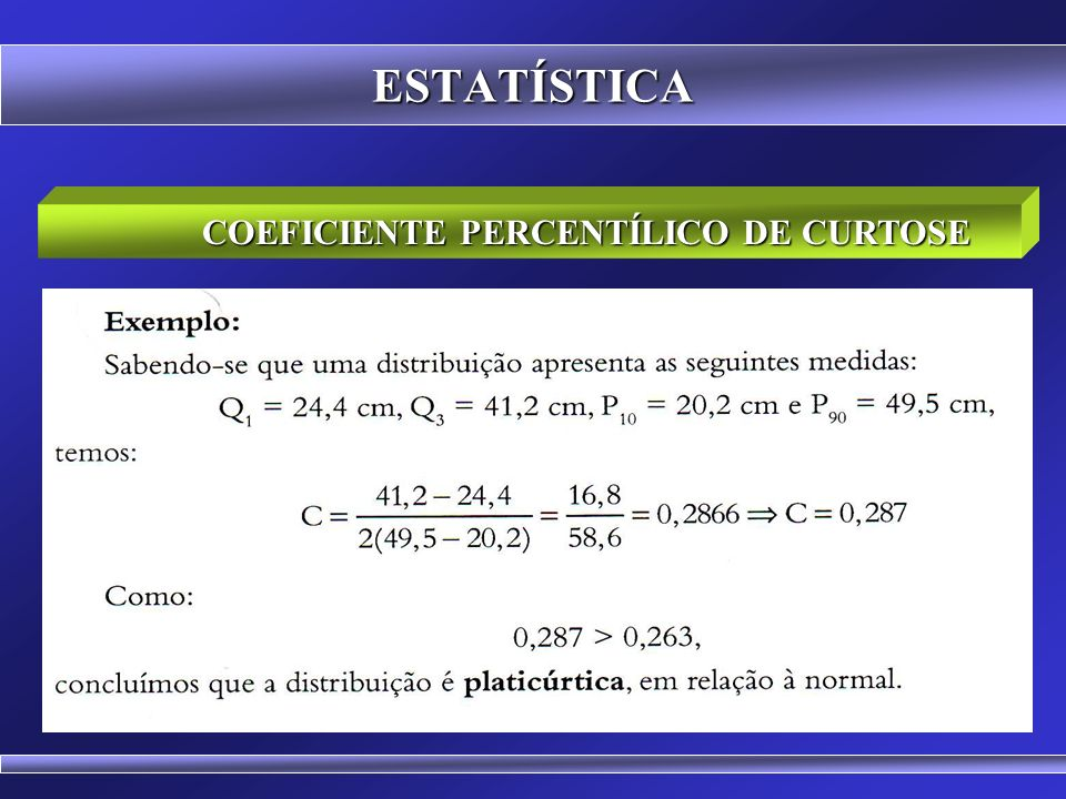 COEFICIENTE PERCENTÍLICO DE CURTOSE