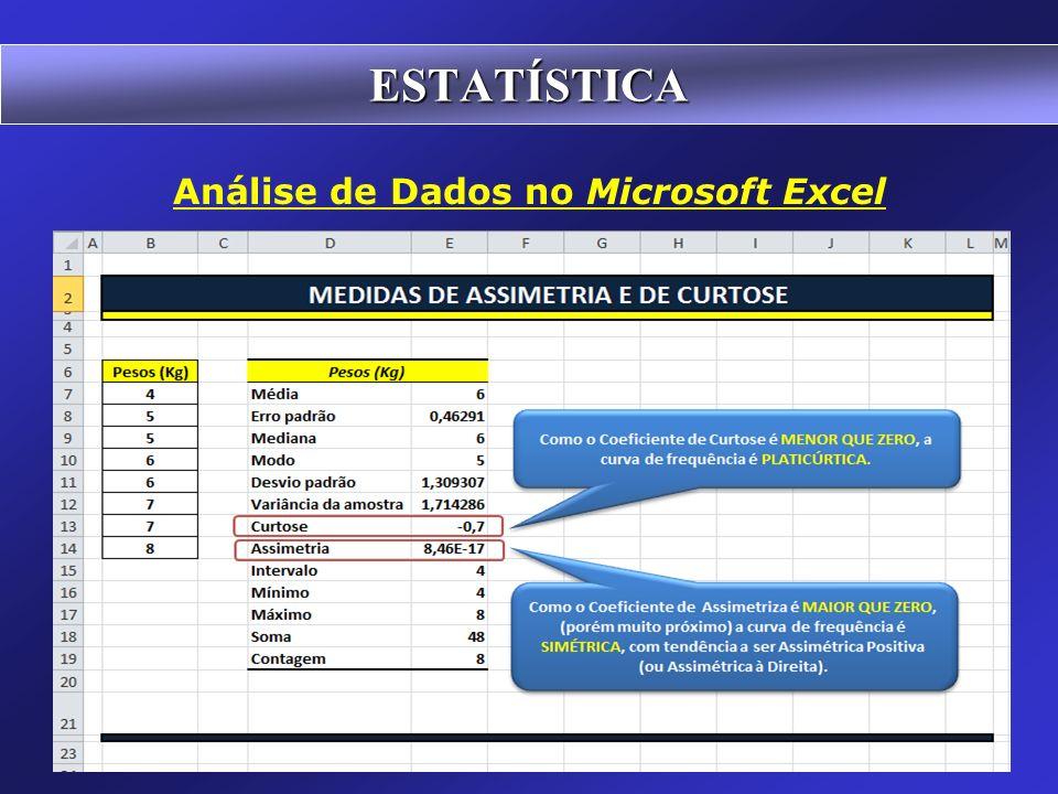 Análise de Dados no Microsoft Excel