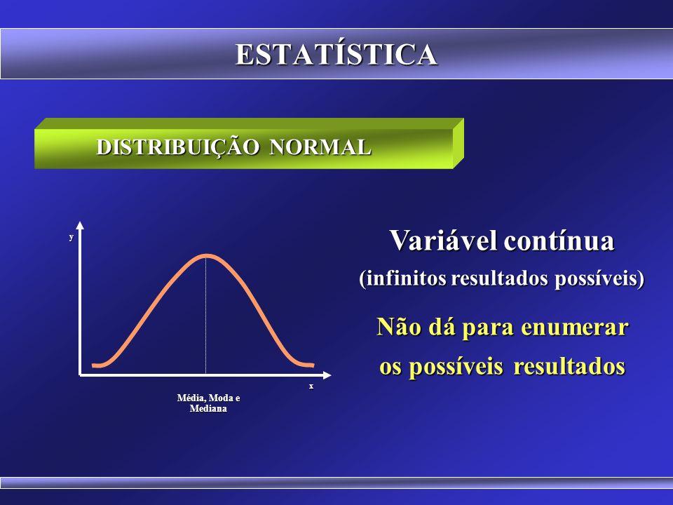 (infinitos resultados possíveis) os possíveis resultados