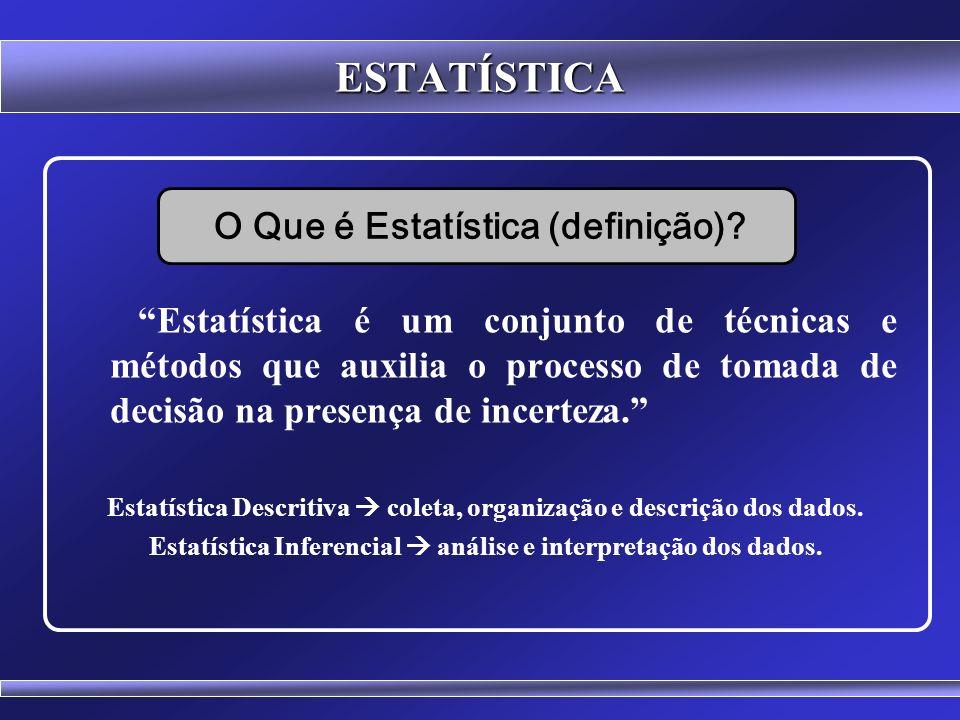 ESTATÍSTICA O Que é Estatística (definição)