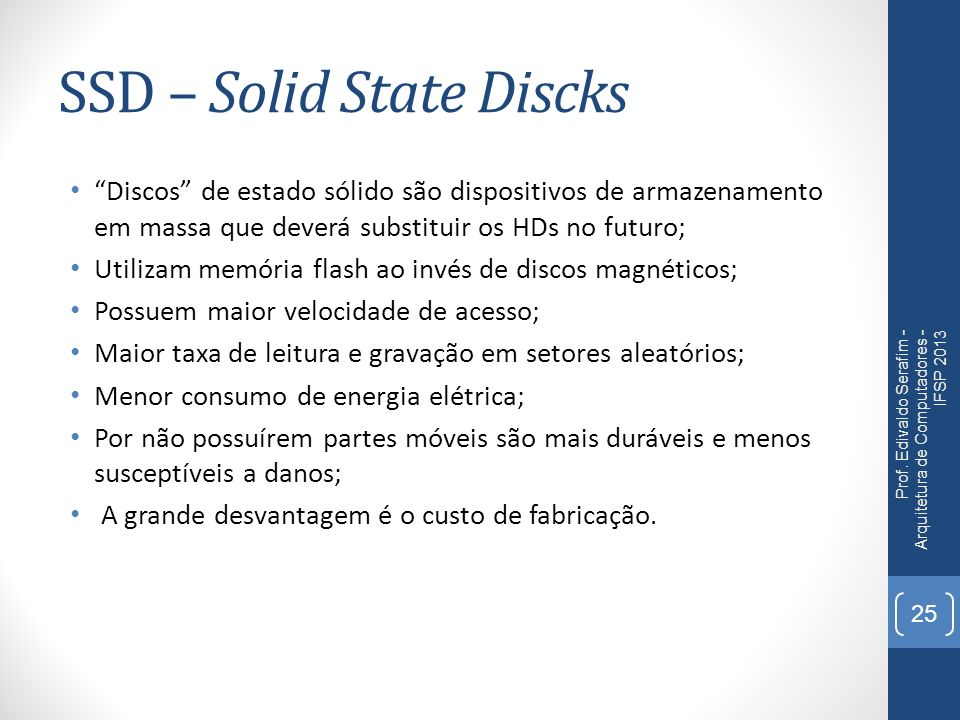 SSD – Solid State Discks