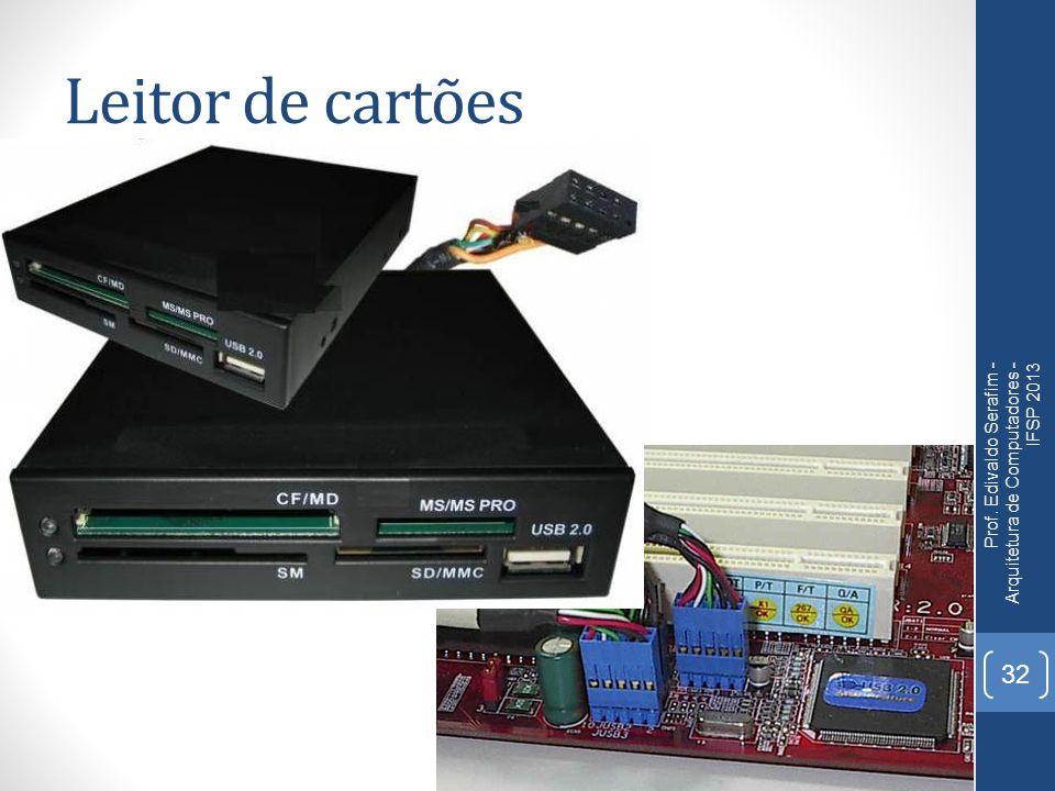 Leitor de cartões Prof. Edivaldo Serafim - Arquitetura de Computadores - IFSP 2013