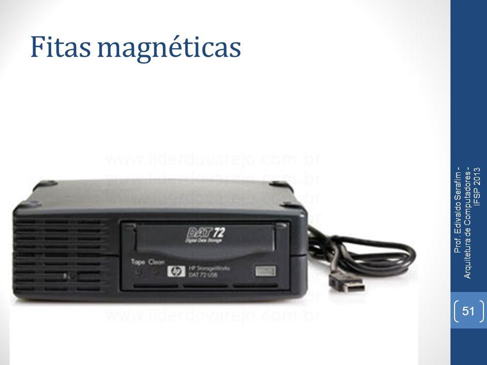 Fitas magnéticas Prof. Edivaldo Serafim - Arquitetura de Computadores - IFSP 2013