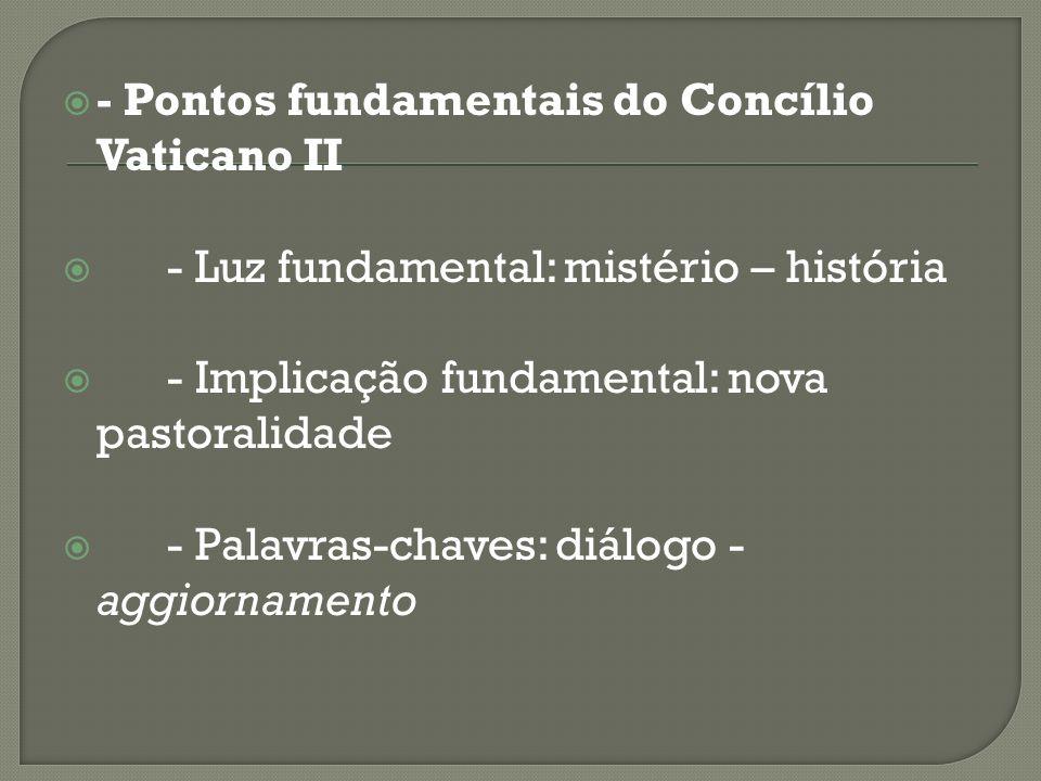 - Pontos fundamentais do Concílio Vaticano II