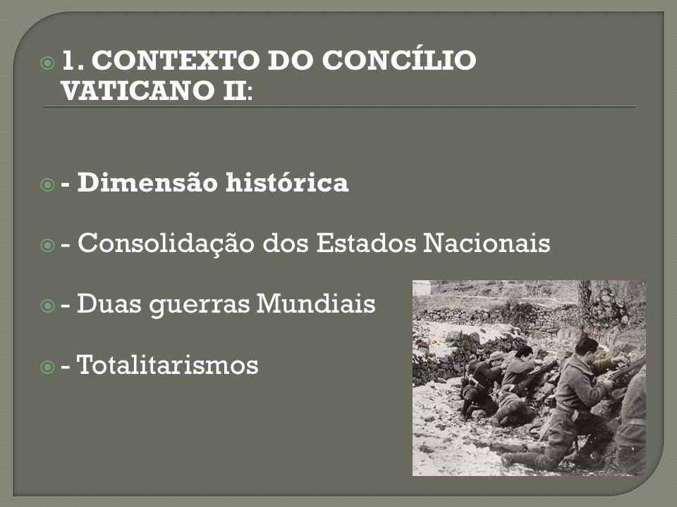 1. CONTEXTO DO CONCÍLIO VATICANO II: