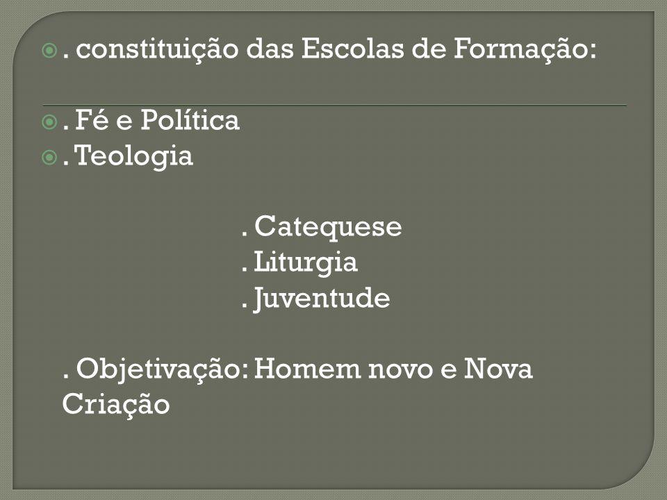 . constituição das Escolas de Formação: