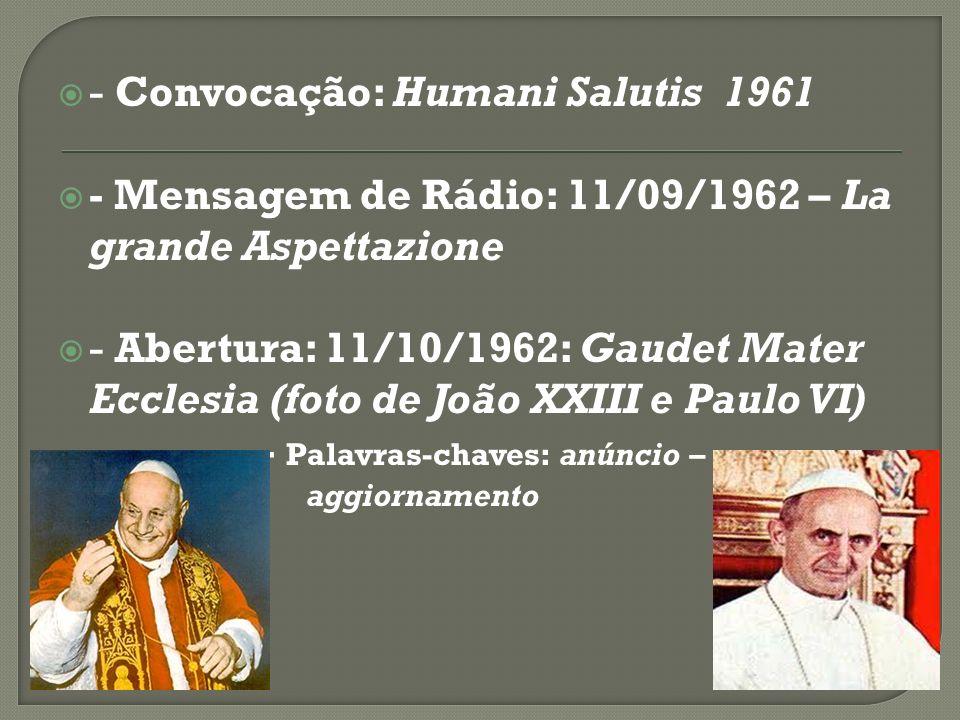 - Convocação: Humani Salutis  1961