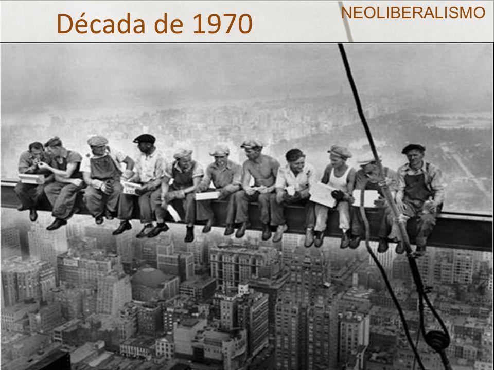 Década de 1970 Estagnação e inflação Choque do petróleo