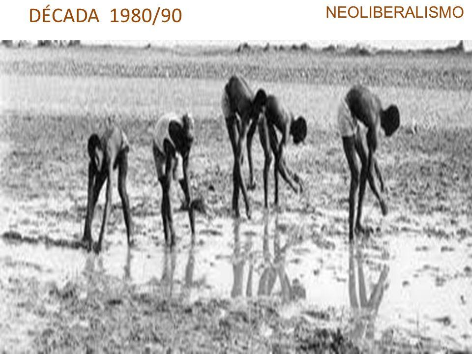 DÉCADA 1980/90 NEOLIBERALISMO Ampliação da liberalização monetária
