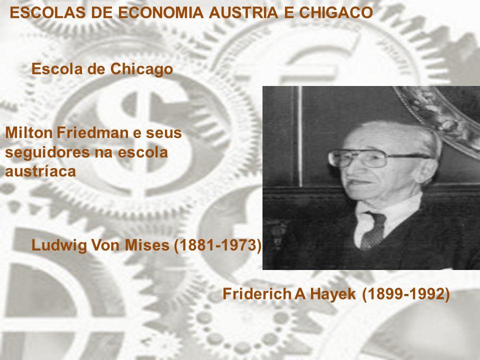 ESCOLAS DE ECONOMIA AUSTRIA E CHIGACO