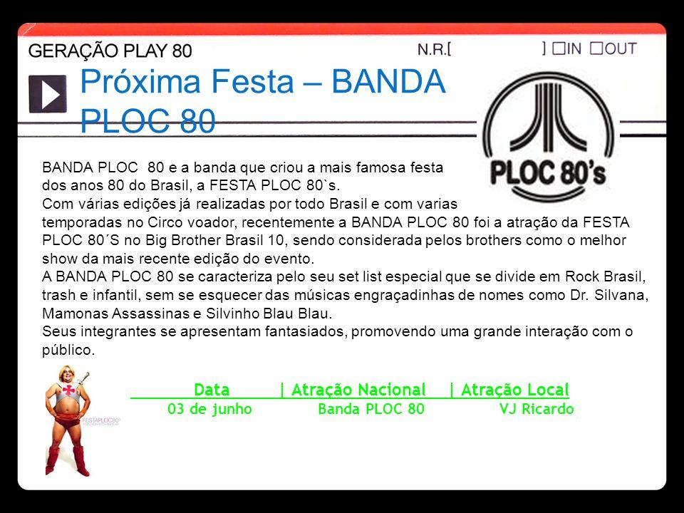 Próxima Festa – BANDA PLOC 80