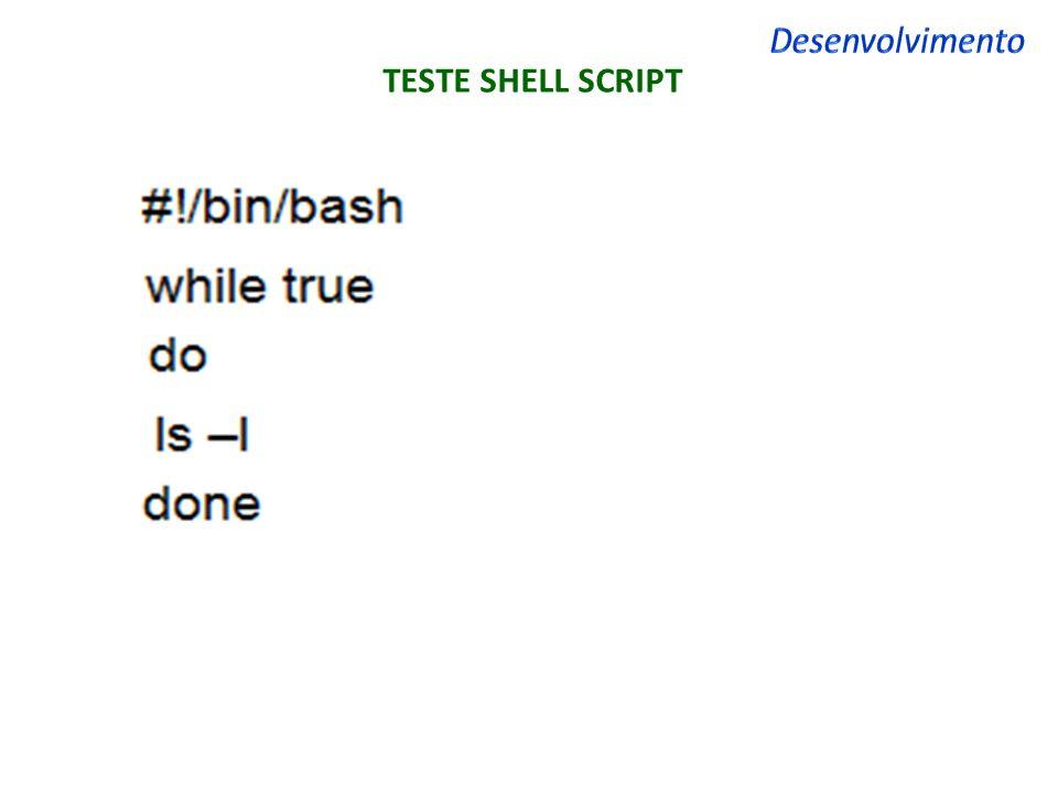 Desenvolvimento TESTE SHELL SCRIPT