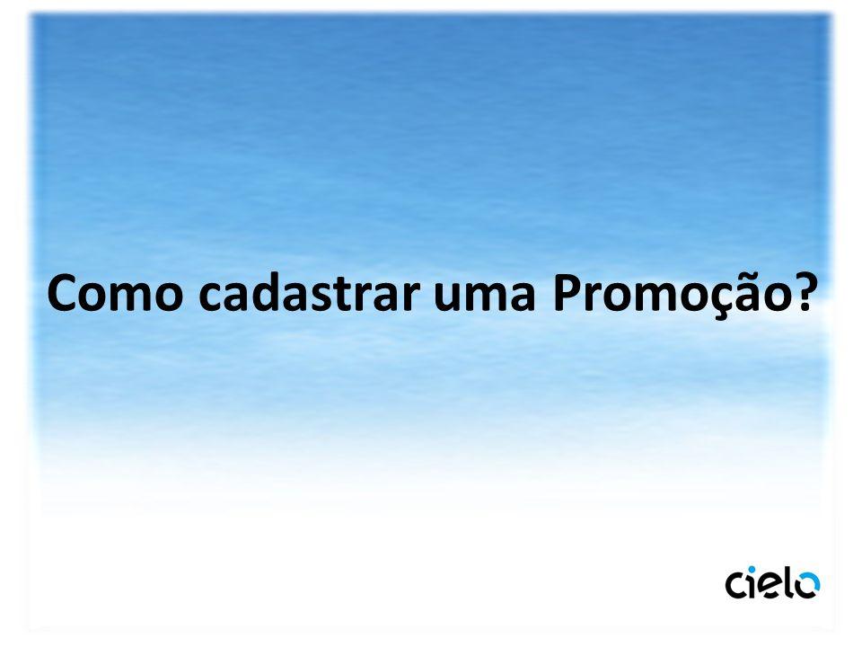 Como cadastrar uma Promoção