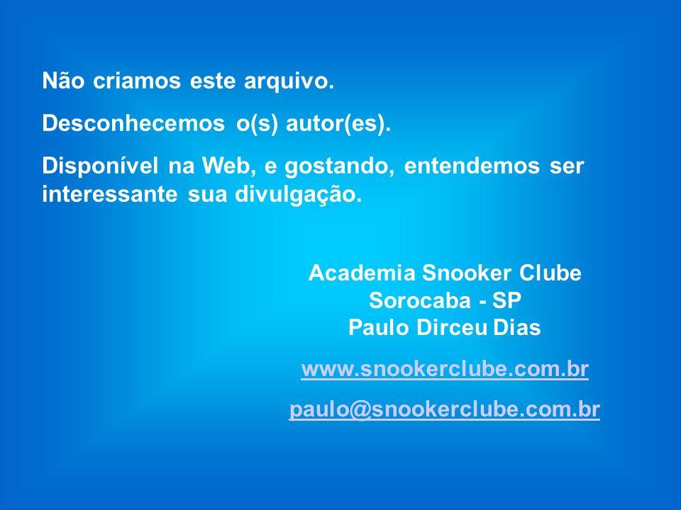 Academia Snooker Clube Sorocaba - SP Paulo Dirceu Dias