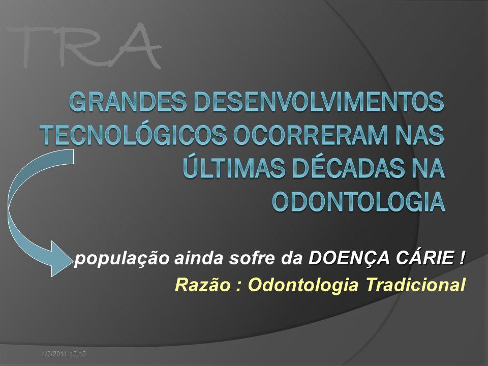 GRANDES DESENVOLVIMENTOS TECNOLÓGICOS OCORRERAM NAS ÚLTIMAS DÉCADAS NA ODONTOLOGIA
