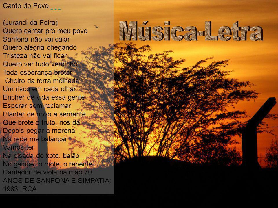 Música-Letra Canto do Povo (Jurandi da Feira)