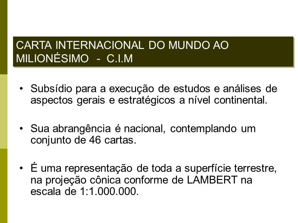 CARTA INTERNACIONAL DO MUNDO AO MILIONÉSIMO - C.I.M