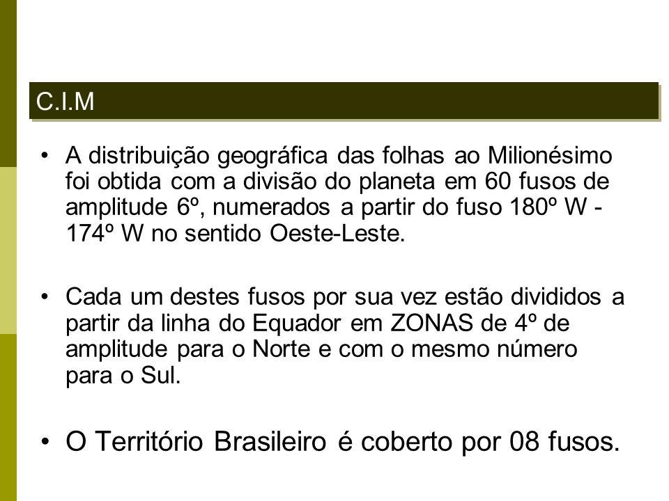 O Território Brasileiro é coberto por 08 fusos.