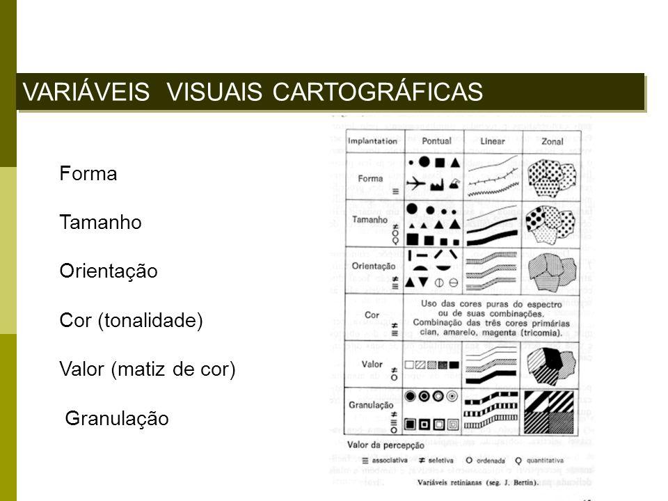 VARIÁVEIS VISUAIS CARTOGRÁFICAS