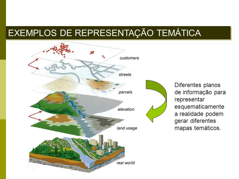 EXEMPLOS DE REPRESENTAÇÃO TEMÁTICA