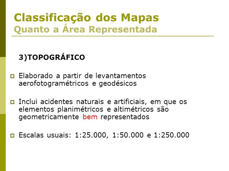 Classificação dos Mapas Quanto a Área Representada