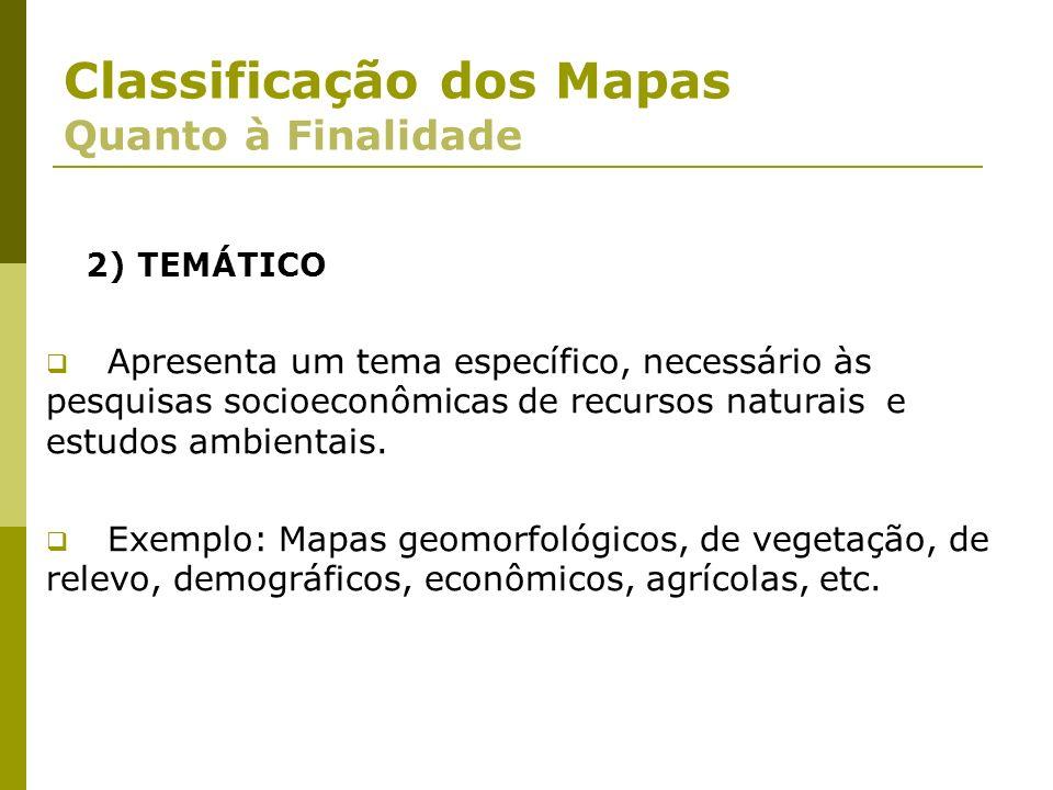 Classificação dos Mapas Quanto à Finalidade