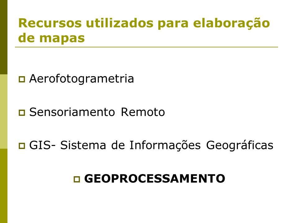 Recursos utilizados para elaboração de mapas