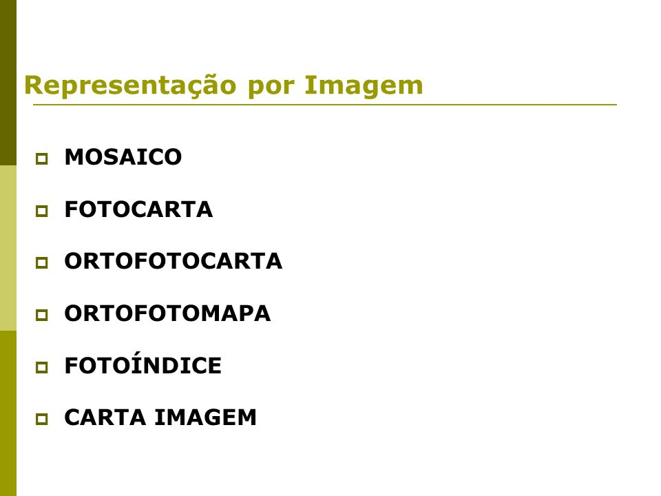 Representação por Imagem