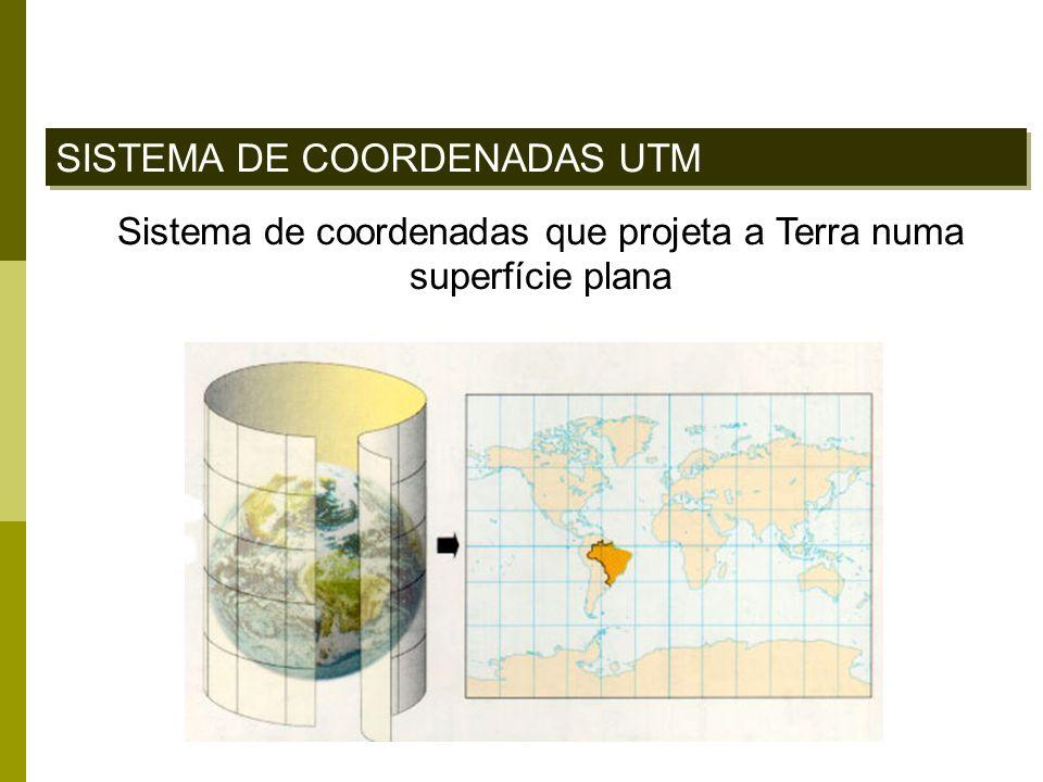 Sistema de coordenadas que projeta a Terra numa superfície plana