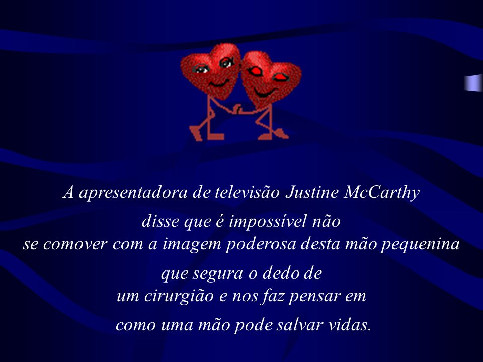 A apresentadora de televisão Justine McCarthy