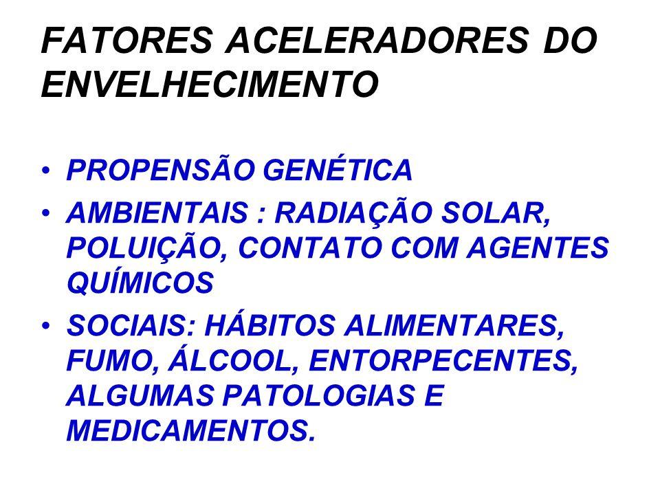 FATORES ACELERADORES DO ENVELHECIMENTO