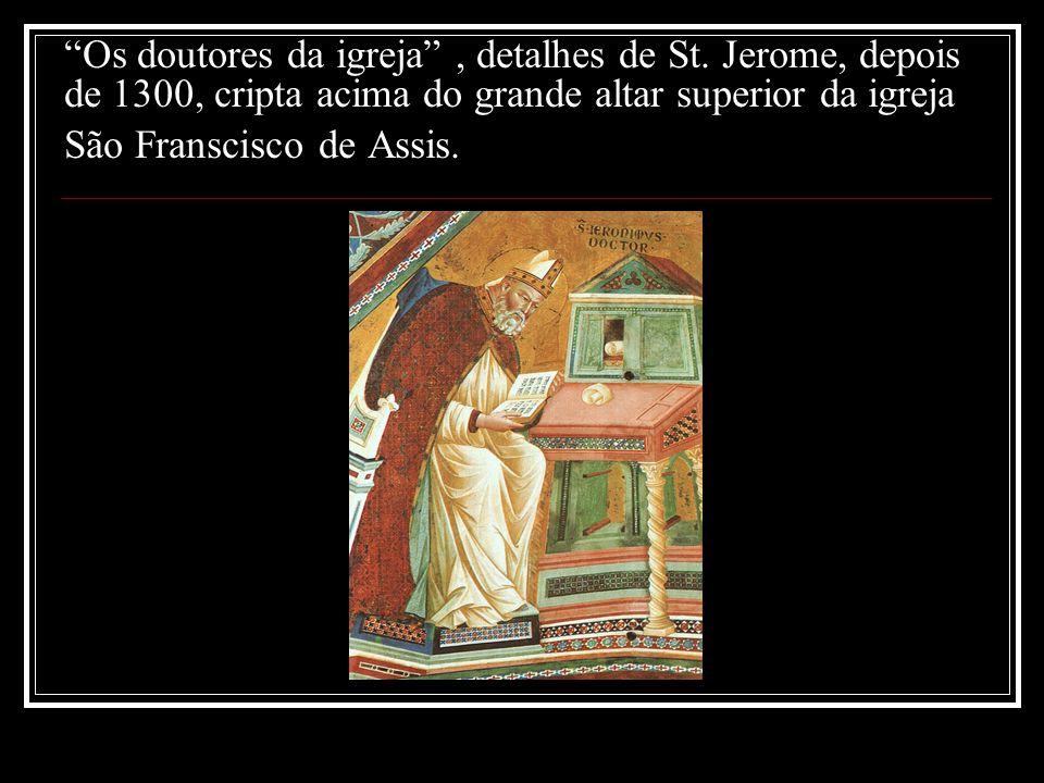 Os doutores da igreja , detalhes de St