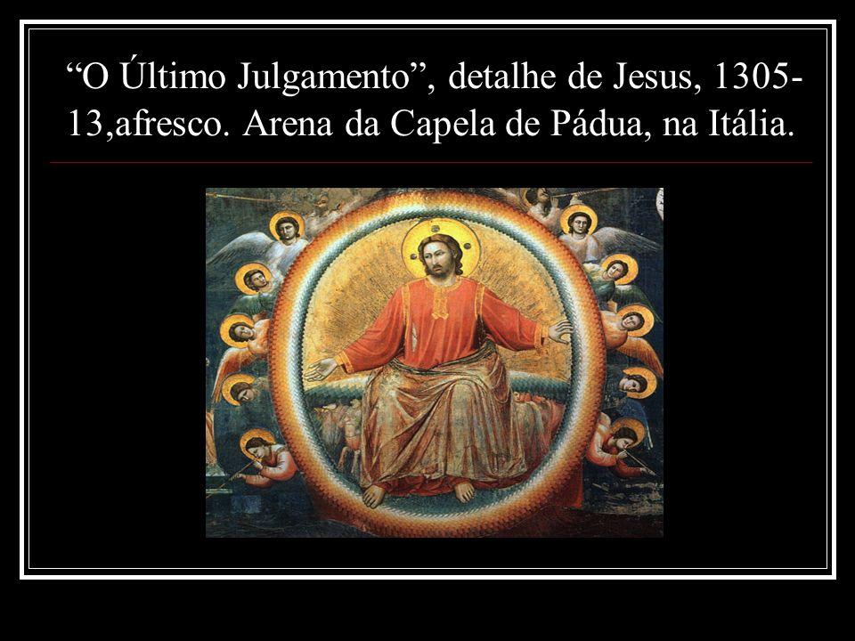 O Último Julgamento , detalhe de Jesus, 1305-13,afresco