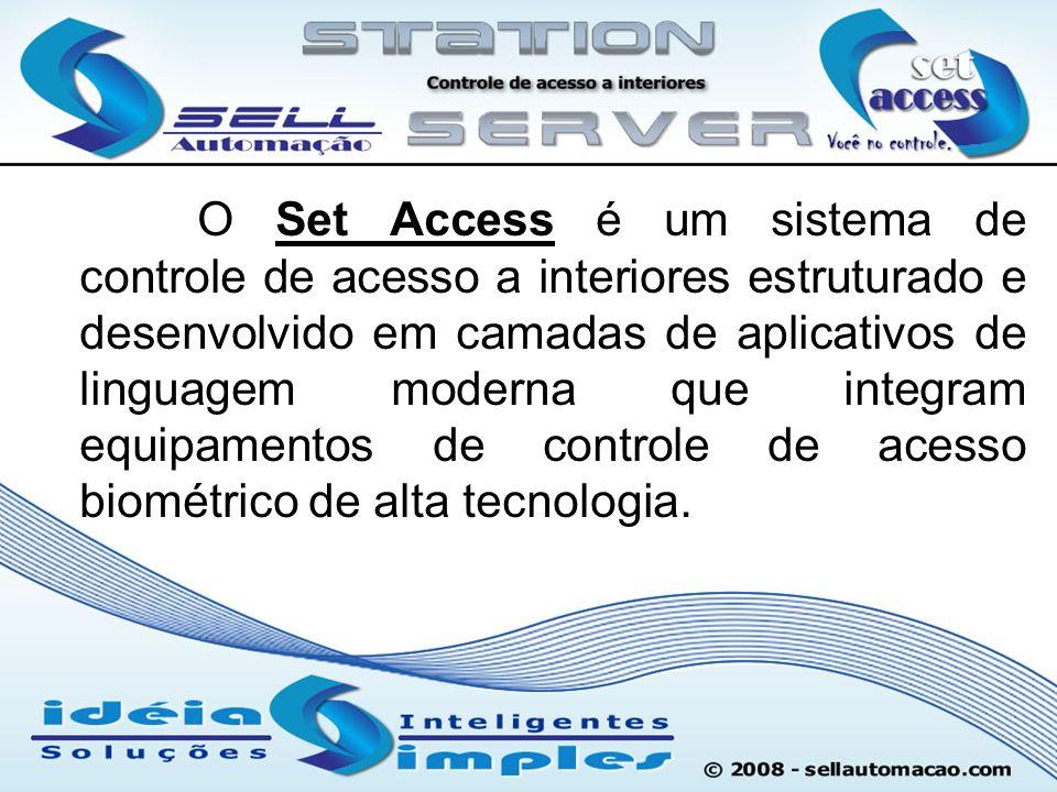 O Set Access é um sistema de controle de acesso a interiores estruturado e desenvolvido em camadas de aplicativos de linguagem moderna que integram equipamentos de controle de acesso biométrico de alta tecnologia.