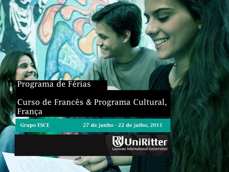 Curso de Francês & Programa Cultural, França