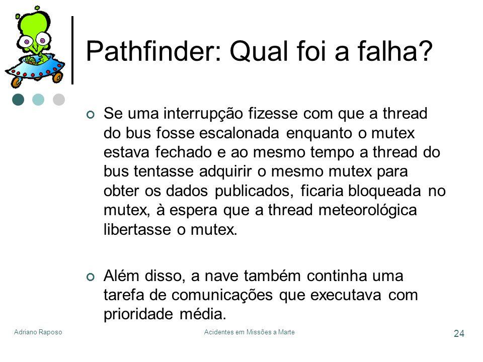 Pathfinder: Qual foi a falha