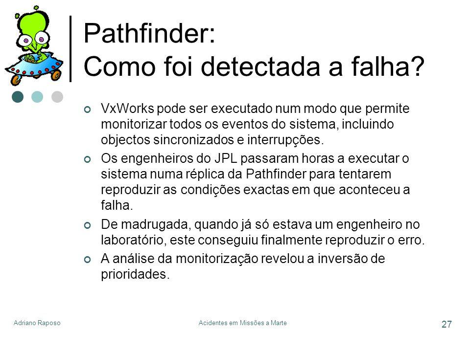Pathfinder: Como foi detectada a falha