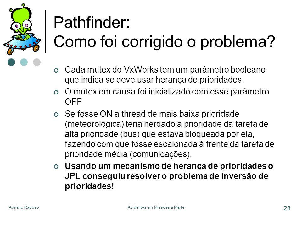 Pathfinder: Como foi corrigido o problema