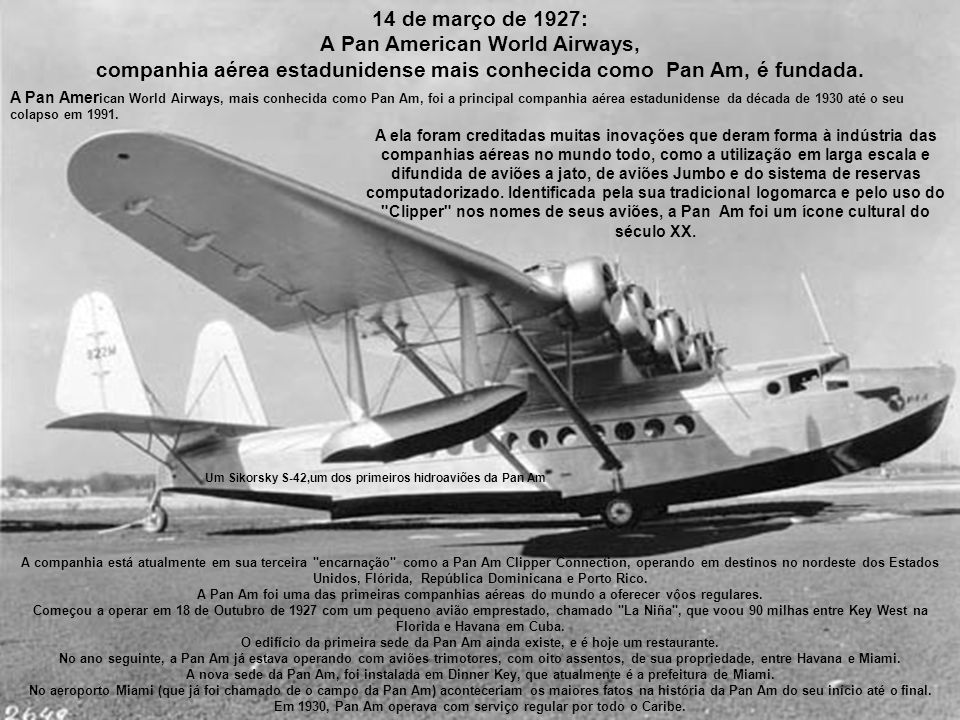 A Pan American World Airways,