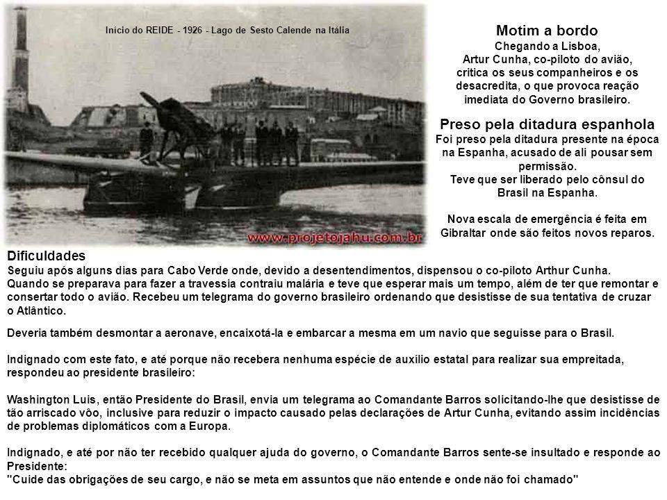 Motim a bordo Preso pela ditadura espanhola
