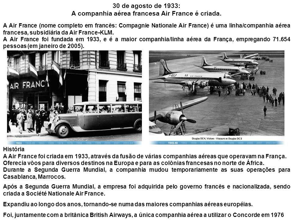 A companhia aérea francesa Air France é criada.