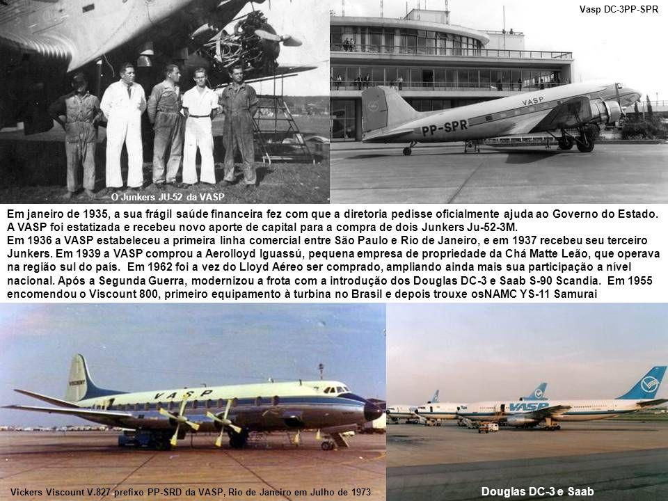 Vasp DC-3PP-SPR O Junkers JU-52 da VASP.