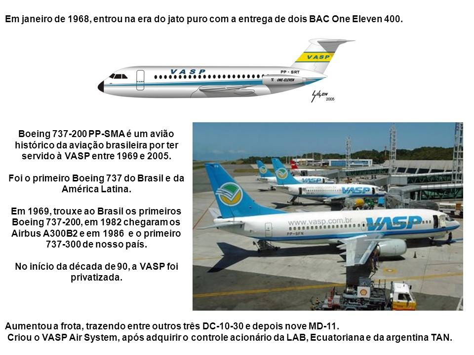 Foi o primeiro Boeing 737 do Brasil e da América Latina.